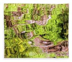 Reflection Abstract Fleece Blanket