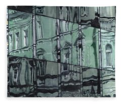 Reflection On Modern Architecture Fleece Blanket