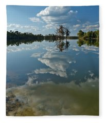 Reflections By The Lake Fleece Blanket
