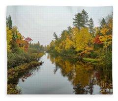 Reflections In Autumn Fleece Blanket