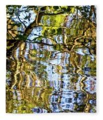 Reflections In Blue Fleece Blanket
