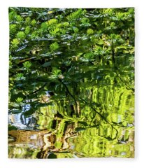 Reflections In Green Fleece Blanket