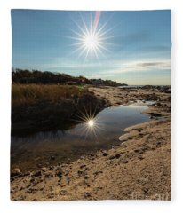 Reflections Of Autumn At The Beach Fleece Blanket