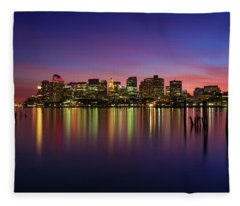 Reflections Of Boston II Fleece Blanket