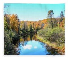 Reflections Of Fall In Wisconsin Fleece Blanket