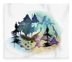 Reflections Of Port Townsend Fleece Blanket