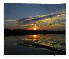 Reflections Of The Passing Day Fleece Blanket