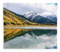 Reflections On Crystal Lake 1 Fleece Blanket