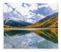 Reflections On Crystal Lake 2 Fleece Blanket