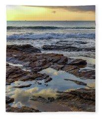 Reflections On The Rocks Fleece Blanket