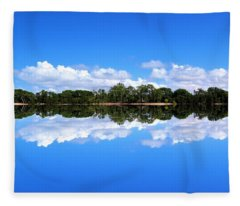 Reflective Lake Patricia Fleece Blanket