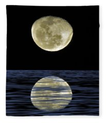 Reflective Moon Fleece Blanket