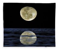 Reflective Moon Fleece Blanket