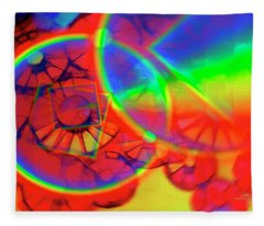 Refracting The Wheel Fleece Blanket
