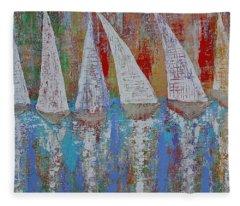 Regatta Original Painting Fleece Blanket