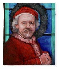 Rembrandt Santa Fleece Blanket