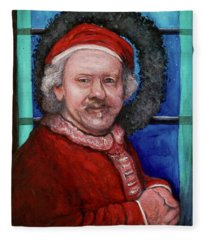 Rembrandt Santa Fleece Blanket