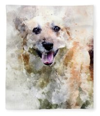 Remember The Four-legged Smile Fleece Blanket