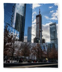 Renaissance Of The World Trade Center Skyscrapers, 2018 Fleece Blanket