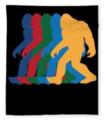 Retro Bigfoot Silhouette 70s Vintage  Fleece Blanket