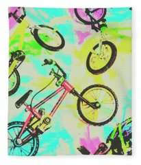 Retro Rides Fleece Blanket