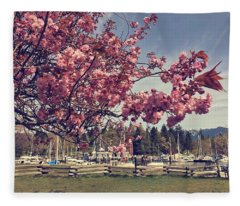 Retro Rowing Club Fleece Blanket