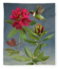 Rhododendron Digital Art Fleece Blankets