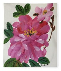 Rhododendron Fleece Blanket
