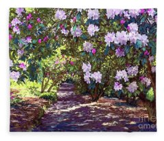 Rhododendron Paintings Fleece Blankets