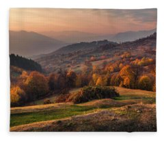 Rhodopean Landscape Fleece Blanket