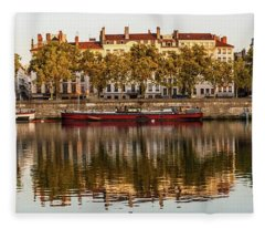 Rhone Morning Panorama Fleece Blanket