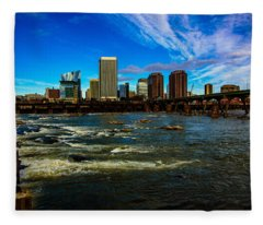 Richmond On The James  Fleece Blanket