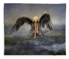 Riding The Storm Out Fleece Blanket