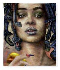 Rihanna Is Medusa Series 1 Fleece Blanket
