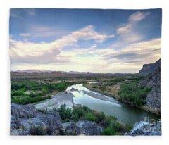 Rio Grand River Fleece Blanket
