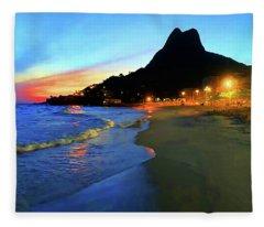 Rio Two Brotherssunset Fleece Blanket