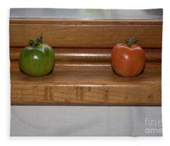 Ripening Tiny Tomatoes Fleece Blanket