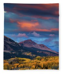Rising Color  Fleece Blanket