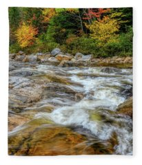 River Cross, Swift River Nh Fleece Blanket
