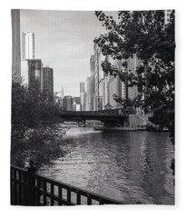River Fence Fleece Blanket