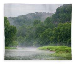 River Mist Fleece Blanket
