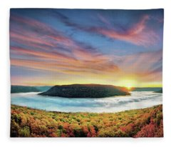 River Of Fog Fleece Blanket