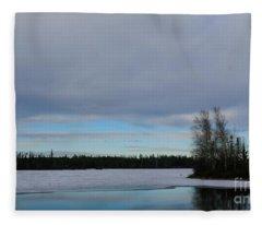 Rivers Wandering Fleece Blanket
