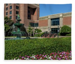 Riverwalk Augusta Ga Fountain Fleece Blanket