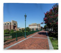 Riverwalk Downtown Augusta Ga Fleece Blanket