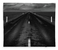 Road One, Iceland Fleece Blanket
