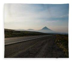 Road Through The Rockies Fleece Blanket