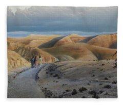 Road To Emmaus Fleece Blanket