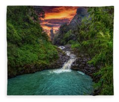 Road To Hana, Hi Fleece Blanket