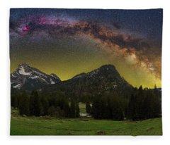Road To Heaven Fleece Blanket
